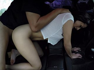 Fresh Latina gets fucked in the car