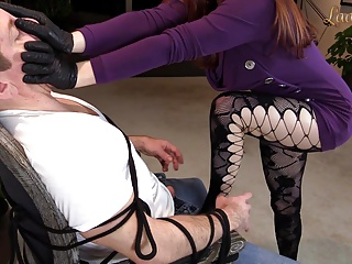 Handyman Handsmother with Gloves FULL VID executrix femdom