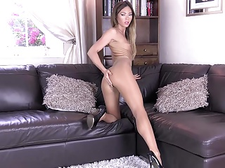 Pantyhose gold video