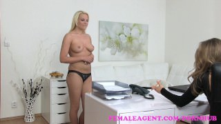 FemaleAgent Sexy student seduced by hot agent