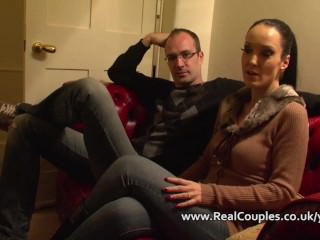 Kinky wife in PVC with crossdressing husband