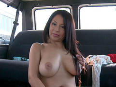 Stripping out of her sweater and screwing in the van