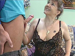A thick cock is ready to pound a horny mature slut