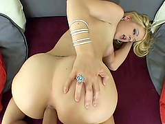 Saucy blonde PAWG Anita Blue gets buttfucked rough