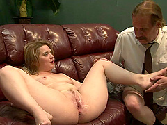 Horny MILF Takes Two Hard Cocks While Her Cuckold Husband Watches