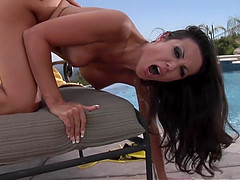 Big Tit Milf Brunette Amy Fisher Fuck Outside