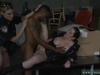 Big tit cop threesome and ohmibod milf