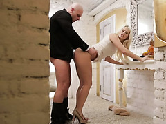 Breathtakingly hot Blanche Bradburry gets fucked from behind