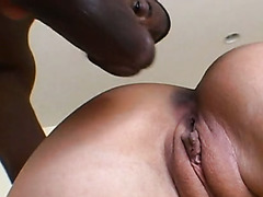 Bosomy brunette Claire Dames gets her throat fucked by BBC