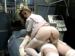 Bitchy light haired cutie rides hard sausage of sicked guy in hospital
