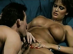 Busty tanned cutie Janette gets fucked in missionary position hard