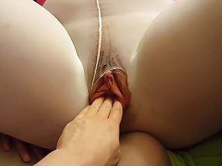 Fingering and Fucking BBW Wet Pussy In Pantyhose 2 of 2