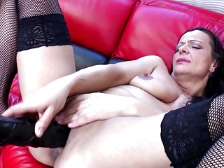 Dirty old mother with very thirsty pussy
