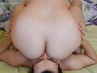 And attractive Mature hairy butt like here pussy