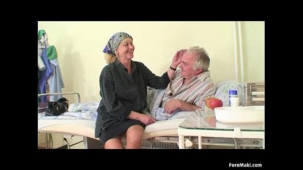 Granny watches grandpa fucks nurse in hospital - 7 min