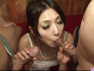 Kanade Otowa leaves two men to fuck her big time