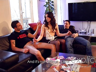 Threesome anal and DP for French babe