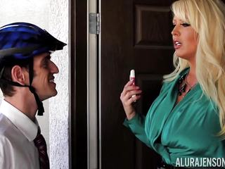 Mormon meets Alura Jenson and cums twice for her