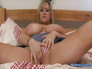 Big Boob Fat Pussy Blond Bed Show