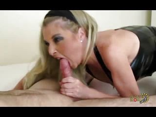 Horny Milf Blondie is oral pro with big cock cum facial