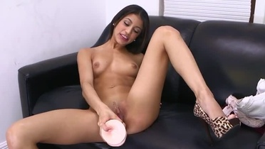 Teenager Veronica Rodriguez is acting in close-up porno
