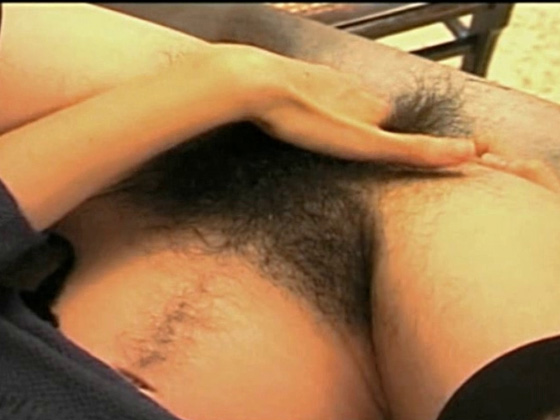 Very hairy MILF fingers and crams her hole - MILF porn