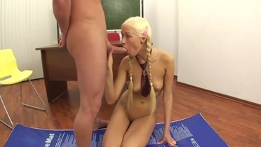 Blonde young Teena Lipoldino taking part in anus fuck adult video