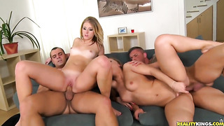 Blonde Silvia Burton with bubbly bottom and smooth