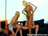 Two big titted blondes & one guy 1