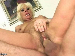 Hot hairy mature woman enjoys being fucked hard
