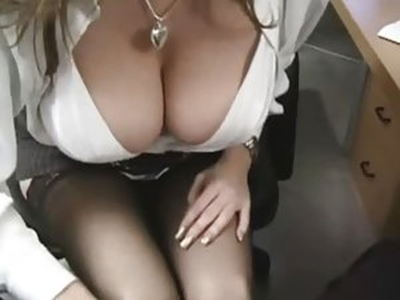 Big Tit Office Slut In Stockings Crazy For Cock - Office Sex porn