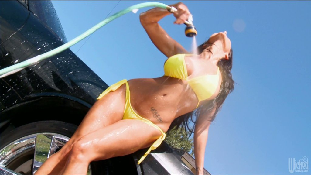 Sweet Ava Addams Washes A Dirty Car In A Hardcore Way