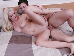 Exotic Addison Avery and her hard dicked fuck buddy