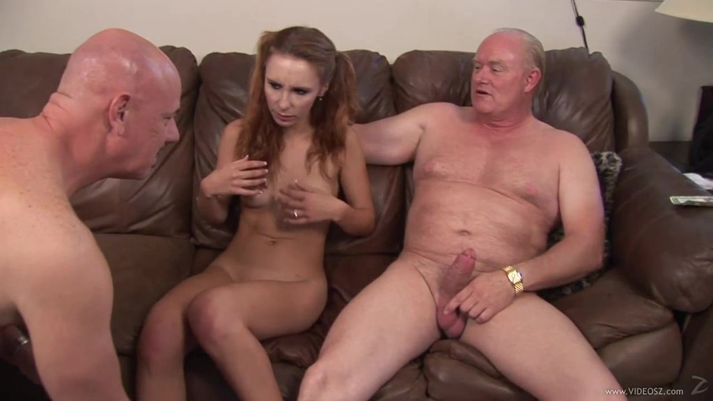 Sweet Laila Mason Gets Fucked Hard By Two Dirty Old Men