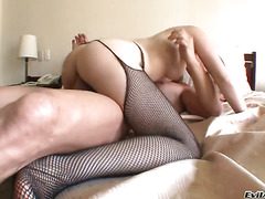 Sasha D finds herself blowing Nacho Vidals stiff dick