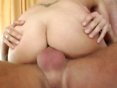 Luciana with massive jugs and smooth muff shows every