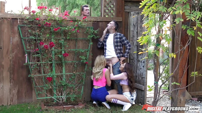 Alexa Grace and Sami Parker crave the hard long dick of Keiran