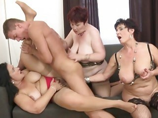 Hot mature moms and grannies fuck toy boys