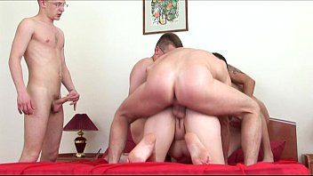 Russian Mature Lady Fucking with 4 Boys - 17 min