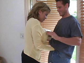 Mature woman with big tits having hardcore sex in the bedroom