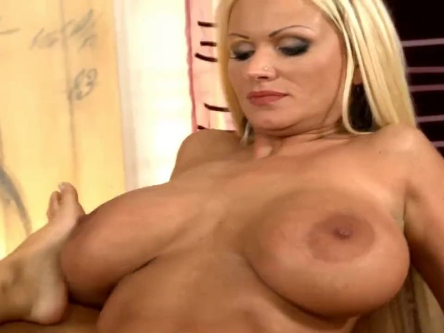 Hottest Lesbian Scene with Big Tits Blonde