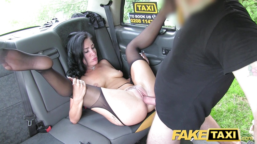 Fake Taxi Sexy MILF loves to ride cock in London taxi