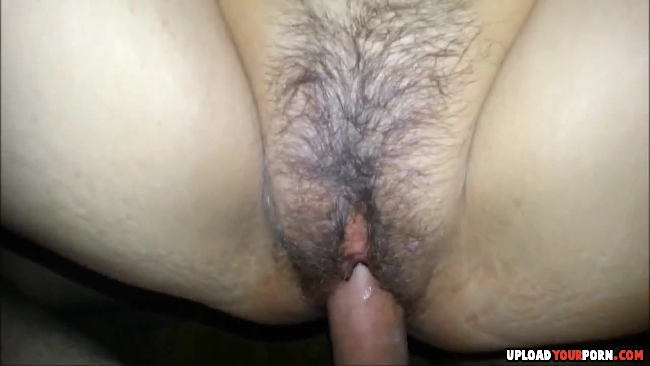 Hairy wife gets pussy fucked and creampied at the end