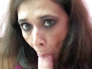 Alesia Pleasure licks balls and sucks dick