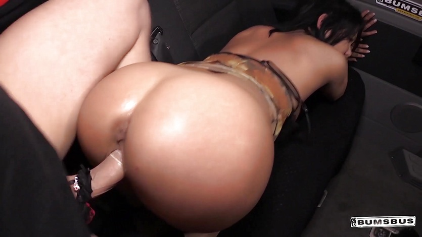BUMS BUS - Bus fuck and facial with busty German MILF