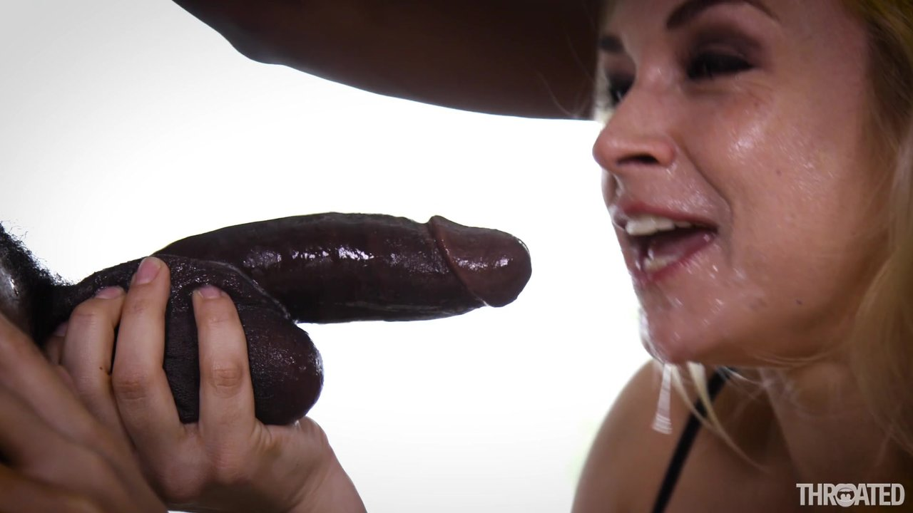 Deepthroating action with Sarah Vandella and her black lover