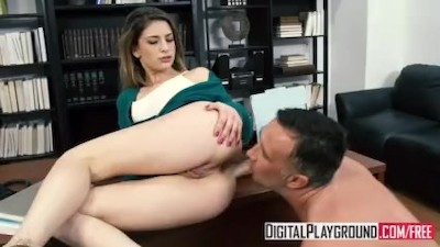 Stuffing The Student - Kristen Scott deepthroats her teacher