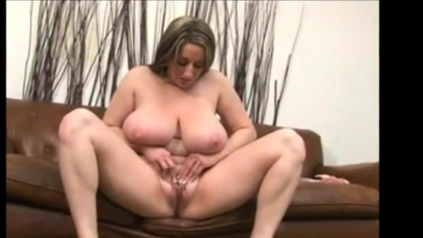 Horny BBW Kitty Lee Strips and Masturbates