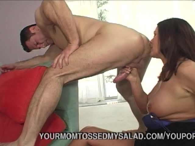 Mature Babe Tossing Studs Salad