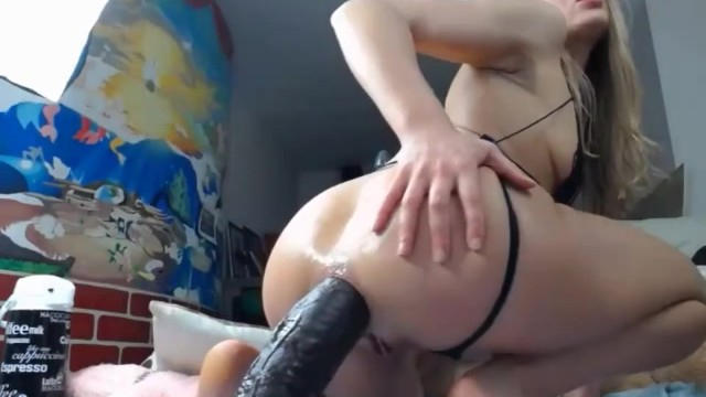 Hot Dildo Anal Riding.